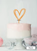 Multi Heart Wedding Valentine's Cake Topper Premium 3mm Acrylic Peach