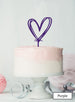 Multi Heart Wedding Valentine's Cake Topper Premium 3mm Acrylic Purple