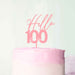 Hello 100 Frosted Pink Cake topper