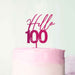 Hello 100 Frosted Raspberry Cake Topper