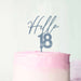 Hello 18 Frosted Blue Cake Topper