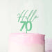 Hello 70 Frosted Green Cake Topper