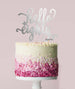 Hello Eighty Birthday Cake Topper Mirror Card Silver