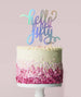 Hello Fifty Birthday Cake Topper Mirror Card Iridescent