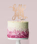 Hello Fifty Birthday Cake Topper Mirror Card Rose Gold