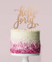Hello Forty Birthday Cake Topper Mirror Card Rose Gold