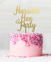Hen Party Custom Cake Topper Mirror Gold