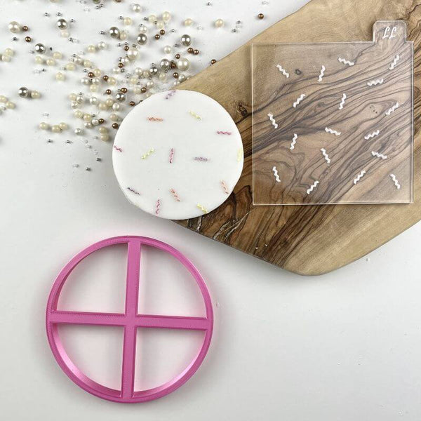 Birthday Confetti Texture Tile Cookie Cutter and Embosser