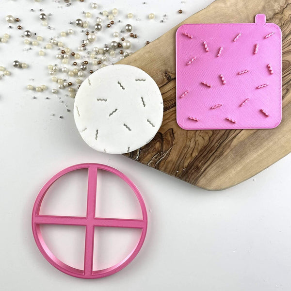 Birthday Confetti Texture Tile Cookie Cutter and Stamp
