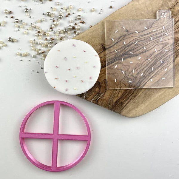 Birthday Sprinkles Texture Tile Cookie Cutter and Embosser