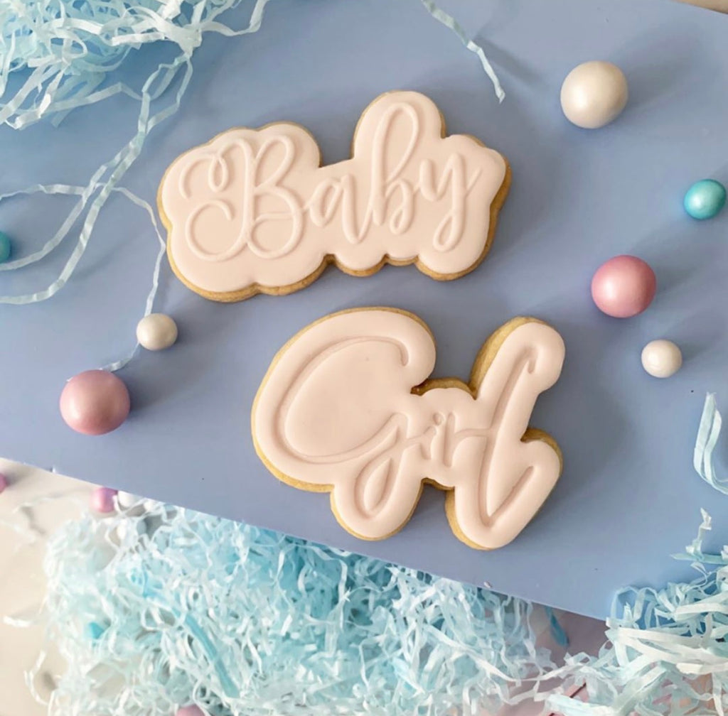 Baby Girl Cookie Embosser and Cutter