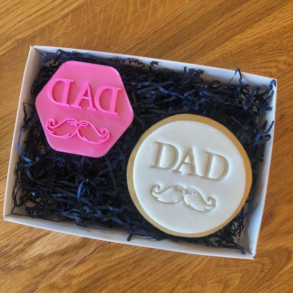 Dad with Moustache Cookie Stamp