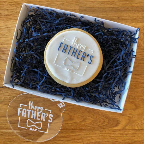 Happy Father's Day Style 2 with Bow Tie Cookie Embosser