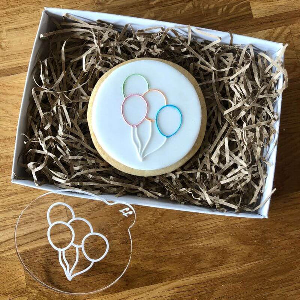 Birthday Balloons Cookie Embosser