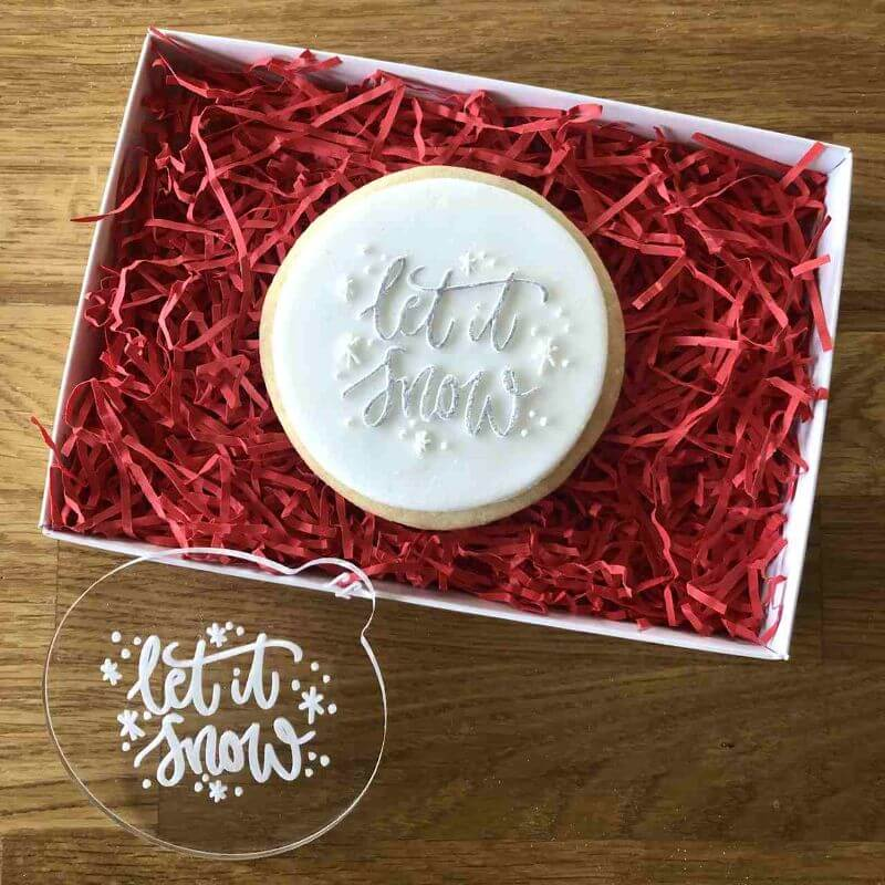 Let It Snow Cookie Embosser