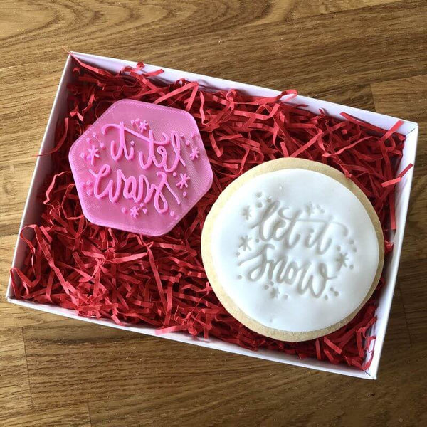 Let It Snow Cookie Stamp