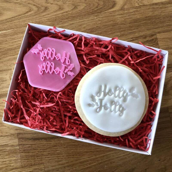 Holly Jolly Cookie Stamp