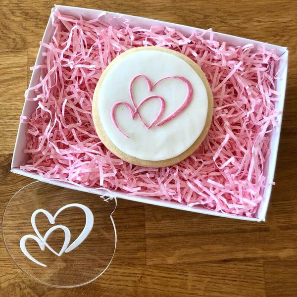 Double Heart Cookie Embosser