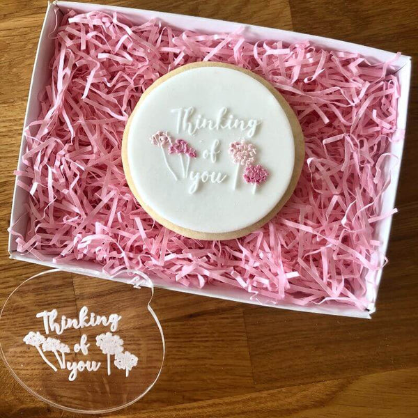 Thinking of You with Dandelions Style 3 Isolation Cookie Embosser