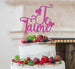 Je T'aime I Love You Cake Topper Glitter Card Hot Pink