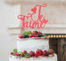 Je T'aime I Love You Cake Topper Glitter Card Light Pink