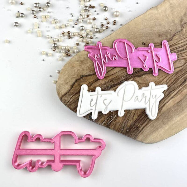 Let's Party Birthday Cookie Cutter and Stamp