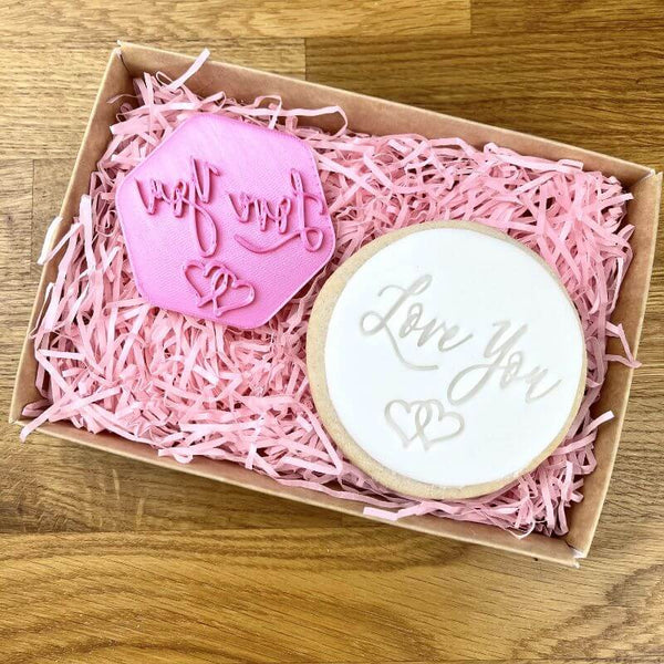Love You in Script Font Mother's Day Cookie Stamp