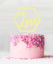 Hexagon Love Acrylic Cake Topper Lemon Sorbet