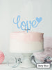 Love with Heart Wedding Valentine's Cake Topper Premium 3mm Acrylic Baby Blue