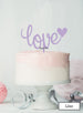 Love with Heart Wedding Valentine's Cake Topper Premium 3mm Acrylic Lilac