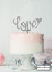 Love with Heart Wedding Valentine's Cake Topper Premium 3mm Acrylic Mirror Silver