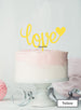 Love with Heart Wedding Valentine's Cake Topper Premium 3mm Acrylic Yellow