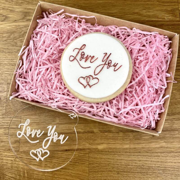 Love You in Script Font Mother's Day Cookie Embosser