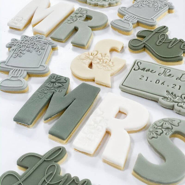 Mr & Mrs (M, R,S and &) Letter/Symbol Wedding Cookie Cutters
