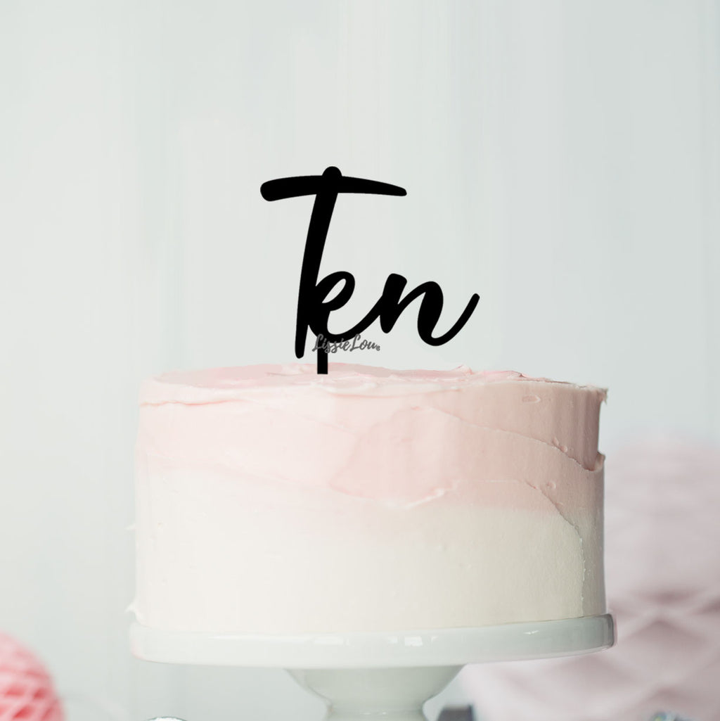 Number Ten Birthday Cake Topper Eden Font Style in Premium 3mm Acrylic or Birch Wood