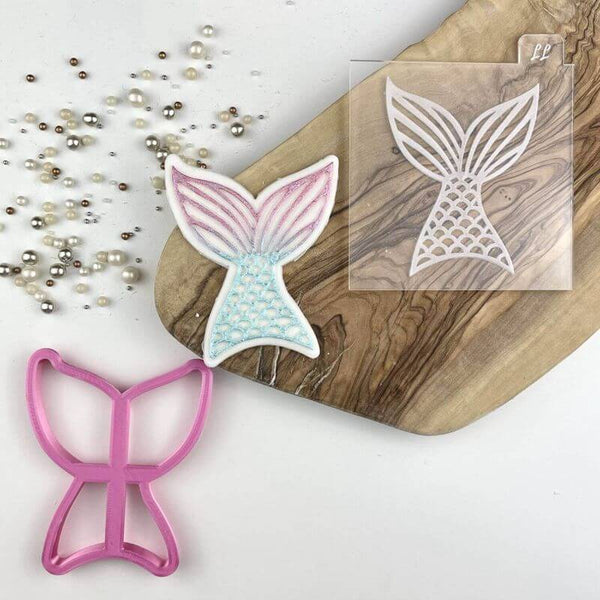 Mermaid Tail Under The Sea Cookie Cutter and Embosser