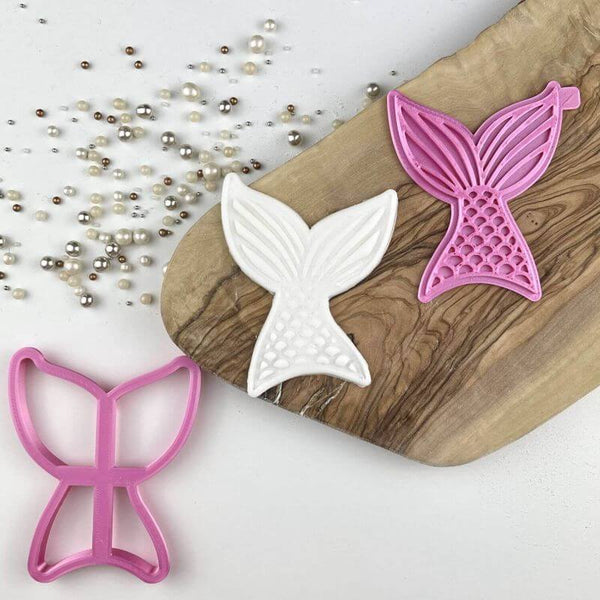 Mermaid Tail Under The Sea Cookie Cutter and Stamp