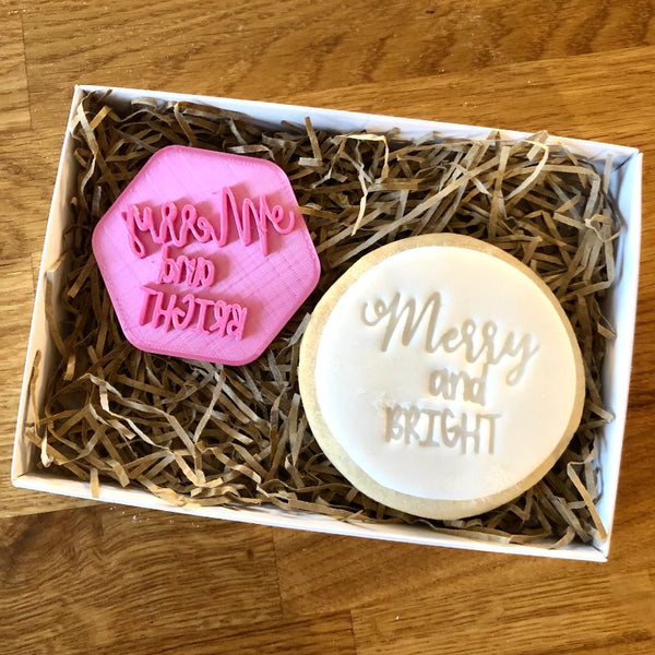 Merry and Bright Cookie Stamp
