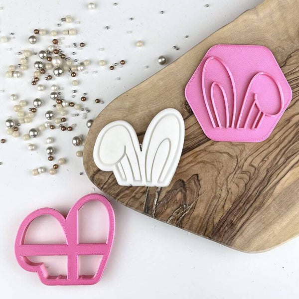 Mini Floppy Bunny Ears Easter Cookie Cutter and Stamp
