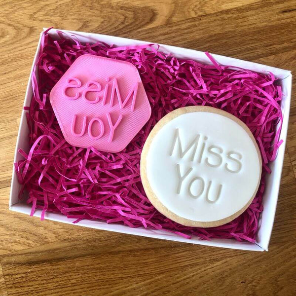 Miss You Isolation Cookie Stamp