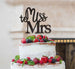 Miss to Mrs Hen Party Cake Topper Glitter Card Black