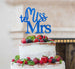 Miss to Mrs Hen Party Cake Topper Glitter Card Dark Blue