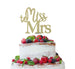 Miss to Mrs Hen Party Cake Topper Glitter Card Gold