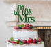 Miss to Mrs Hen Party Cake Topper Glitter Card Green