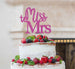 Miss to Mrs Hen Party Cake Topper Glitter Card Hot Pink