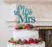 Miss to Mrs Hen Party Cake Topper Glitter Card Light Blue