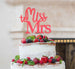 Miss to Mrs Hen Party Cake Topper Glitter Card Light Pink