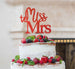 Miss to Mrs Hen Party Cake Topper Glitter Card Red