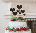 Heart Mixed Sized Cake Topper Set of 7 Cake Topper Glitter Card Black
