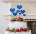 Heart Mixed Sized Cake Topper Set of 7 Cake Topper Glitter Card Dark Blue